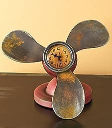Vintage Propellers Table Clock by GetSet2Save