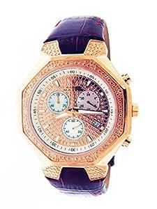 Aqua Master 42mm 20 Diamond Watch Rose Gold Tone Case