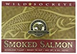 Alaska Smokehouse Smoked Sockeye Salmon Fillet In Gold, 8 Ounce Gift Box