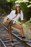 "Fashion Model on Railways Tracks - 30""H x 20""W - P..."