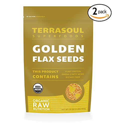 Terrasoul Superfoods Organic Golden Flax Seeds, 2 Pack, 4 Pounds (Golden Flax From Canada compare prices)