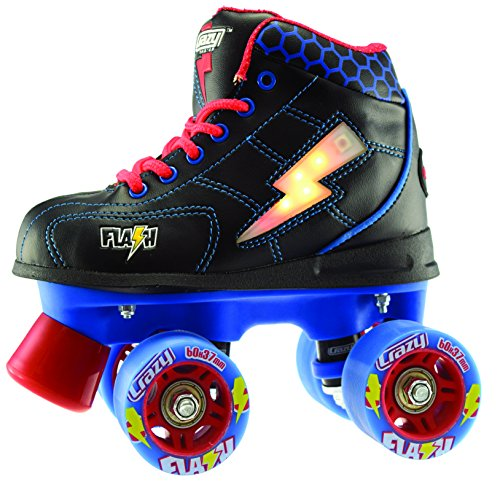 Crazy-Skates-Flash-Kids-Roller-Skate-with-LED-Light-Up-Lightning-Bolt-FBB