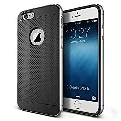 Dotted Ultra Thin Shock proof Hybrid Back Case Cover for Apple Iphone 6 6S - Silver