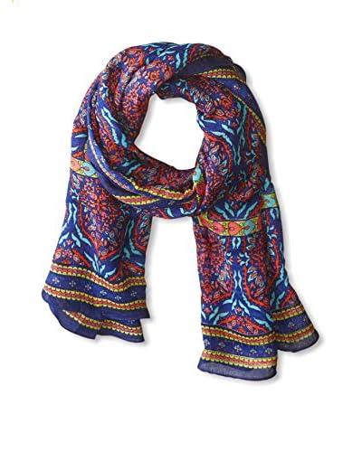 Theodora & Callum Women's Ankara Tie All Scarf, Cobalt Multi