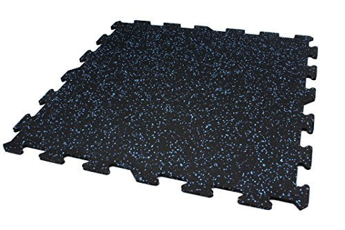 IncStores 8mm Strong Rubber Tiles (Blue, 7ft 8in x 9ft 7in) Interlocking Rubber Gym Mats For Home Gym Flooring, Exercise Mats, Equipment Mats & Fitness Room Floors