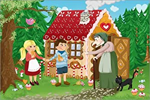 Poster 100 x 70 cm: Hansel and Gretel fairy tale series by Michaela Heimlich - high quality art print, new art poster