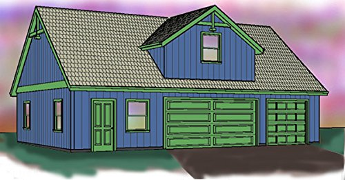 Three car garage plan single story with loft 42 39 x 28 for Garage plans with shop space