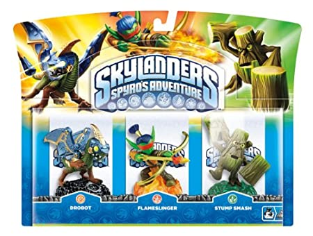 Skylanders: Spyro's Adventure - Triple Character Pack - Drobot, Stump Smash and Flameslinger (Wii/PS3/Xbox 360/PC)
