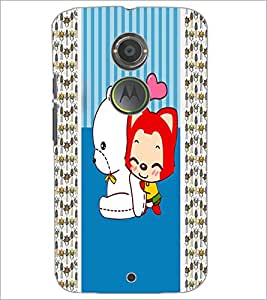 PrintDhaba Cartoon D-3380 Back Case Cover for MOTOROLA MOTO X2 (Multi-Coloured)