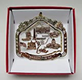 Washington D.C. Brass Landmarks Christmas ORNAMENT