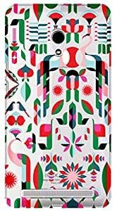 WOW Transparent Printed Back Cover Case For Asus Zenfone 4.5
