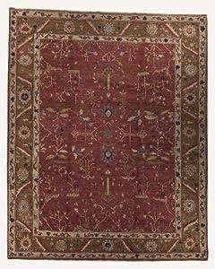 JOZAN MAHOGANY OLIVE 5X7 AREA RUG - Tufenkian Carpets - Handmade Area Rug