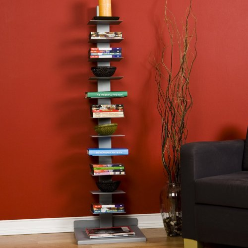 SEI Metal Spine-Style Book Tower