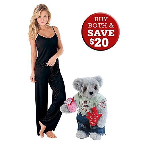 "15"" Zombie Love Teddy Bear with 2X Black Velour PJs"