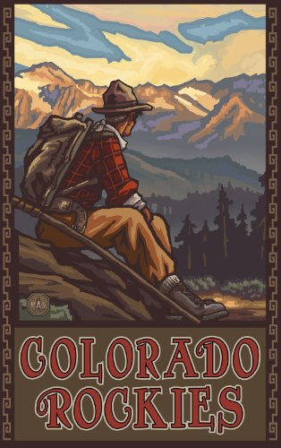 northwest-art-mall-colorado-rockies-mountain-hiker-mhm-wall-art-by-paul-a-lanquist-11inch-by-17inch
