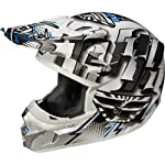 Fly Racing Kinetic Dash Youth Motocross/Off-Road/Dirt Bike Motorcycle Helmet - White/Black/Silver / Medium