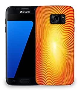 Snoogg trendy sunburst Designer Protective Back Case Cover For Samsung Galaxy S7