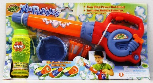 Premium bubble blower. Fun toy with leaf blower design is battery operated for hours of bubble blowing and popping fun for kids. (Kids Toy Leaf Blower compare prices)