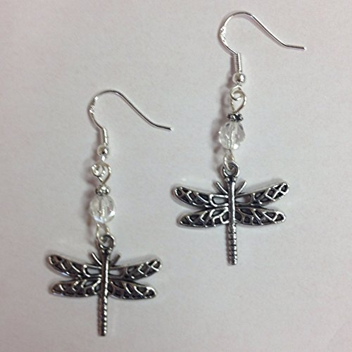 dragonfly-or-nature-earrings-accented-with-clear-faceted-crystal-beads-on-sterling-silver-earwires