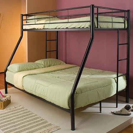 Denley Twin Over Full Bunk Bed (Black)