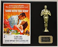 GONE WITH THE WIND, CLARK GABLE LTD EDITION OSCAR MOVIE POSTER DISPLAY ***FREE U.S. SHIPPING***
