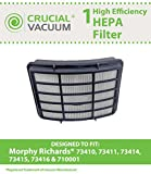 1 Morphy Richards HEPA Filter, Fits Models 73410, 73411, 73414, 73415, 73416 & 710001, Compare to Part # 35744, Designed & Engineered by Crucial Vacuum