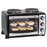 Andrew James Mini Oven And Grill With Double Hot Plates 24l