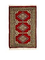 Navaei & Co. Alfombra Kashmir Rojo/Marfil 101 x 61 cm