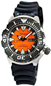 Seiko Superior #SRP315 Men&#39;s 2nd Generation &quot;Orange Monster&quot; 200M 24 Jewels Automatic Diver Watch: Watches: Amazon.com