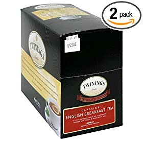 Twinings English Breakfast Tea, K-Cups for Keurig Brewers, 25-Count Boxes (Pack of 2)