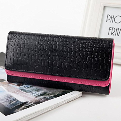 Anpress® Stone Pattern Women Wallets Retro Embossing of Leather Double-deck Multifunction Women