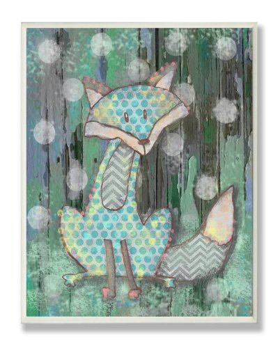 The Kids Room by Stupell Distressed Woodland Fox Rectangle Wall Plaque