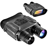 Digital Night Vision Binoculars 7x31mm-400m/1300ft Viewing Range Super Large 4'' Viewing Screen Infrared Scope in Full Dark (Color: Black)
