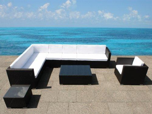 gartenm bel preisvergleich luxus rattan xxl lounge sitzgarnitur gartenm bel. Black Bedroom Furniture Sets. Home Design Ideas