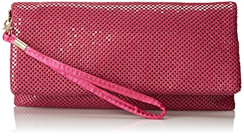 la-regale-mesh-fold-over-clutch-pink-one-size