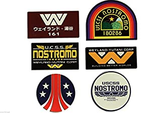 NOSTROMO WEYLAND-YUTANI CORP SULACO , ALIEN , ALIENS - Decal Set of 6 Stckers