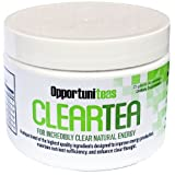 ClearTea | All Natural Energy Drink Powder Without the Jitters or Crash | Ideal Weight Loss Tea or Fat Burning Boost | Matcha Green Tea, Yerba Mate, Berries, Rhodiola Rosea, Antioxidants, Vitamins and Minerals | Amazing Green Superfood Health Nutritional Supplement