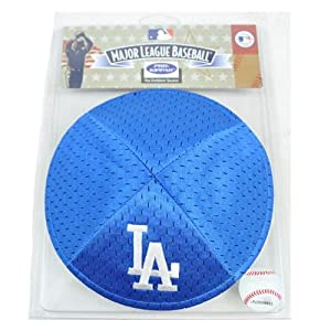 MLB Los Angeles LA Dodgers Blue White Clip On Pro Kippah Kipa Yamaka Yarmulke by Emblem Source