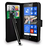 Gbos Nokia Lumia 520 Black Leather Wa...