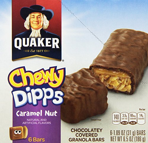 Quaker Chewy Caramel Nut Chewy Dipps Granola Bars, 6 Bars Food ...
