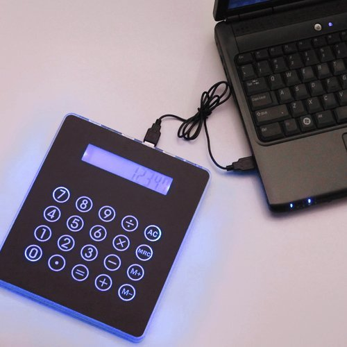 Highstar - Hde (Tm) Black Usb Mousepad Calculator Hub