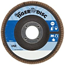 Weiler Tiger Abrasive Flap Disc, Type 29, Round Hole, Phenolic Backing, Zirconia Alumina