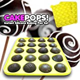 Leegoal 20 Silicone Ball Shaped Lollypop Cupcake Baking Modelling Tray With 20Pcs Sticks ,Pink