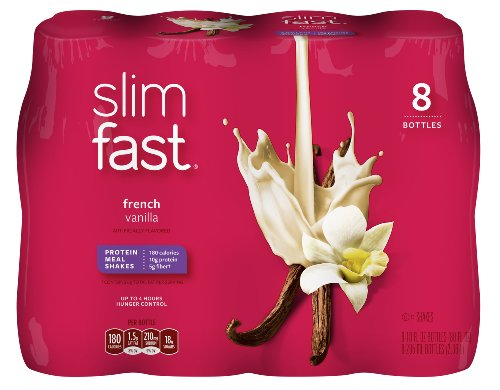 SlimFast Ready to Drink Bottles, French Vanilla Meal Replacement Shake, 10-Ounces, 8 Count (Slimfast Shake Mix French Vanilla compare prices)