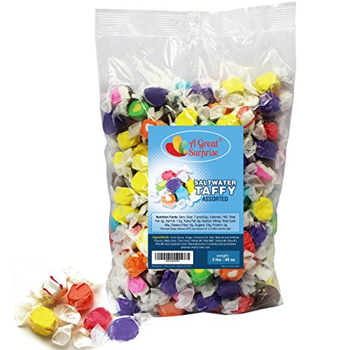 Salt Water Taffy 10 Assorted Gourmet Flavors, 3 LB Bulk Candy (Salt Waters Kids compare prices)
