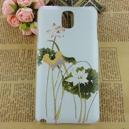 Nancy'S Shop Colorful Painting 3D Hard Cell Phone Accessories Case And Covers For Unlocked Tmobile Samsung Galaxy Note 3 Iii (Lotus Flower)