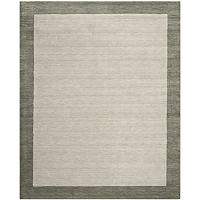 Safavieh Himalaya Collection HIM580A Handmade Light Blue and Dark Blue Premium Wool Area Rug (5' x 8')