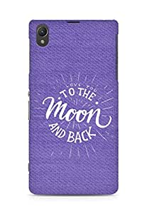 AMEZ love you to the moon and back Back Cover For Sony Xperia Z1 C6902