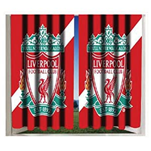 Stripe Crest 72 Curtains by Liverpool FC