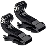 2x J-Hook Buckle Vertical Surface Mount Adapter for GoPro HD Hero 1 2 3 Camera